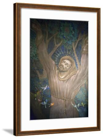 Mural in St. Nicholas Croatian Catholic Church, Millvale, Pa, Usa-Dave Bartruff-Framed Photographic Print
