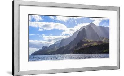 Majestic Na Pali Coastline of Kauai-Andrew Shoemaker-Framed Photographic Print