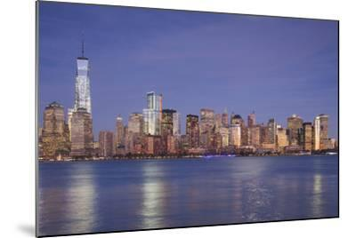 USA, New York, New York City, Lower Manhattan and Freedom Tower, Dusk-Walter Bibikow-Mounted Photographic Print