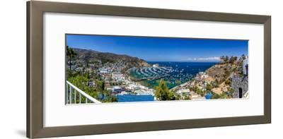 A Panorama of Avalon on Catalina Island-Andrew Shoemaker-Framed Photographic Print
