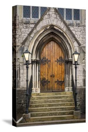 Wooden Doors at Entrance to Trinity Presbyterian Church, Cork, Ireland-Brian Jannsen-Stretched Canvas Print
