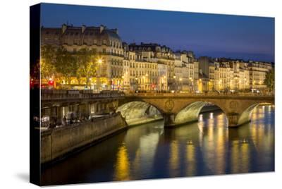 Pont Neuf and the Buildings Along River Seine, Paris France-Brian Jannsen-Stretched Canvas Print