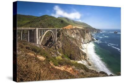 The Bixby Bridge Along Highway 1 on California's Coastline-Andrew Shoemaker-Stretched Canvas Print