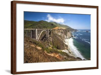 The Bixby Bridge Along Highway 1 on California's Coastline-Andrew Shoemaker-Framed Photographic Print