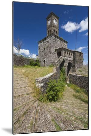Albania, Gjirokastra, Castle Clock Tower-Walter Bibikow-Mounted Photographic Print