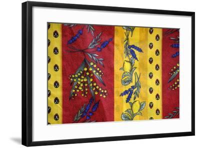 France, Aix-En-Provence. Textiles, Cours Mirabeau Market-Kevin Oke-Framed Photographic Print