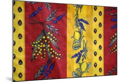 France, Aix-En-Provence. Textiles, Cours Mirabeau Market-Kevin Oke-Mounted Photographic Print