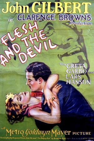 Flesh and the Devil - Movie Poster Reproduction--Stretched Canvas Print