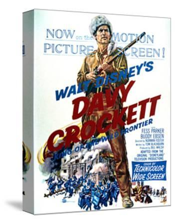 Davy Crockett: King of the Wild Frontier - Movie Poster Reproduction--Stretched Canvas Print