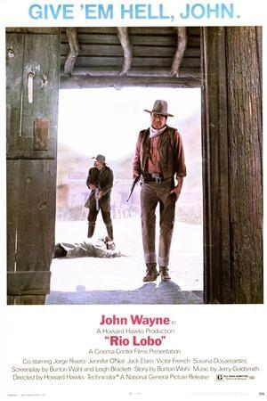 Rio Lobo - Movie Poster Reproduction--Stretched Canvas Print
