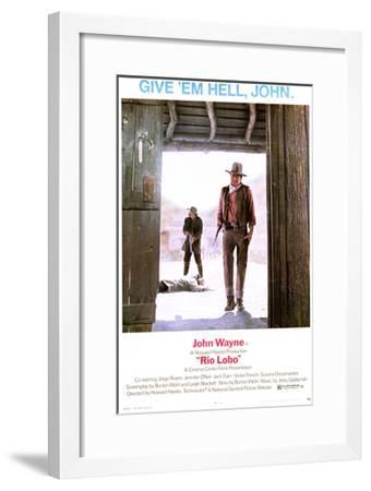 Rio Lobo - Movie Poster Reproduction--Framed Art Print