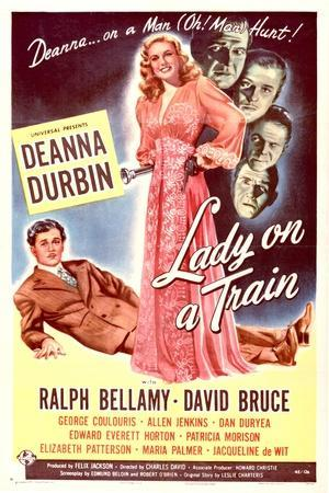 Lady on a Train - Movie Poster Reproduction--Stretched Canvas Print