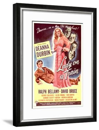 Lady on a Train - Movie Poster Reproduction--Framed Art Print
