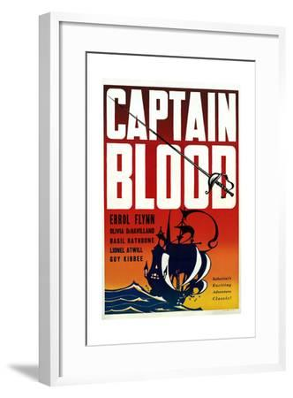 Captain Blood - Movie Poster Reproduction--Framed Art Print