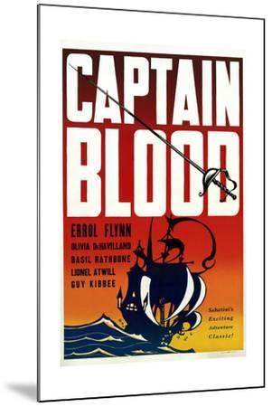 Captain Blood - Movie Poster Reproduction--Mounted Art Print