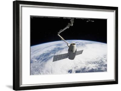 Spacex Dragon in the Grasp of Canadarm2--Framed Photographic Print