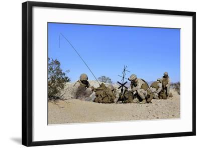 U.S. Marines Setup Communication Equipment and Conduct Radio Checks--Framed Photographic Print