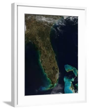 Satellite View of Florida--Framed Photographic Print