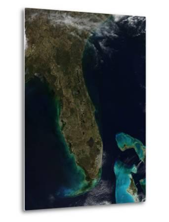 Satellite View of Florida--Metal Print