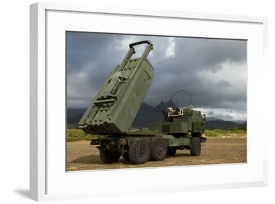 A M142 High Mobility Artillery Rocket System--Framed Photographic Print