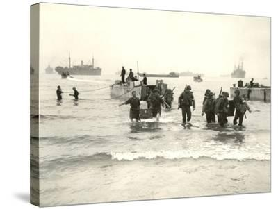 American Forces Landing at Arzew, Algeria During Operation Torch--Stretched Canvas Print