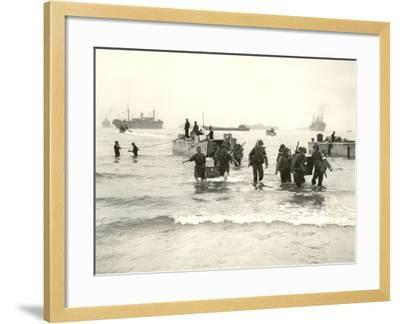 American Forces Landing at Arzew, Algeria During Operation Torch--Framed Photographic Print