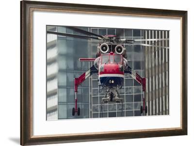 An Erickson Aircrane S-64 Aircrane Heavy-Lift Helicopter--Framed Photographic Print