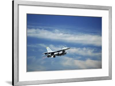 A U.S. Air Force F-16 Fighting Falcon Aircraft--Framed Photographic Print