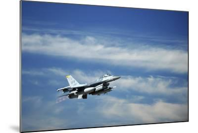 A U.S. Air Force F-16 Fighting Falcon Aircraft--Mounted Photographic Print