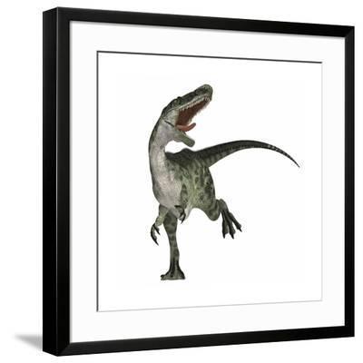 Monolophosaurus Dinosaur--Framed Art Print