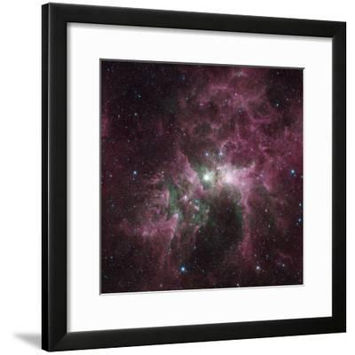 Infrared View of the Carina Nebula--Framed Photographic Print