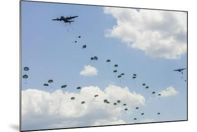 A C-130 Hercules Drop U.S. Army Airborne Troops over Maryland--Mounted Photographic Print