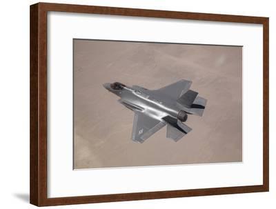 An F-35 Lightning Ii Flies over Edwards Air Force Base, California--Framed Photographic Print