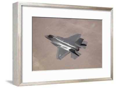 An F-35 Lightning Ii Flies over Edwards Air Force Base, California--Framed Photographic Print