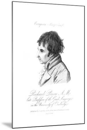 Richard Porson--Mounted Giclee Print