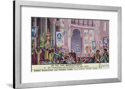 Constantinople Fall--Framed Giclee Print