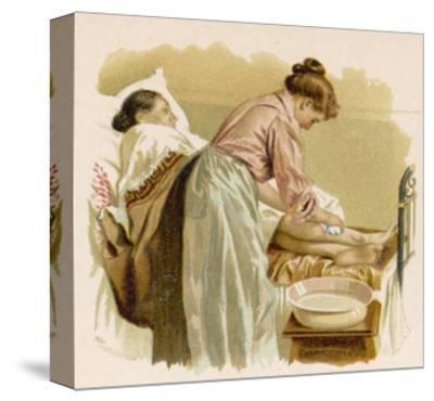 Old Age, Bedridden Bath--Stretched Canvas Print