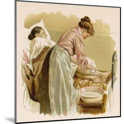 Old Age, Bedridden Bath--Mounted Giclee Print