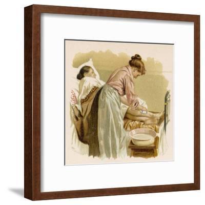 Old Age, Bedridden Bath--Framed Giclee Print