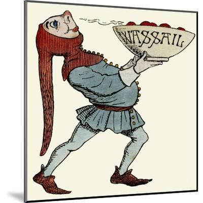 Jester Carrying a Wassail Bowl--Mounted Giclee Print