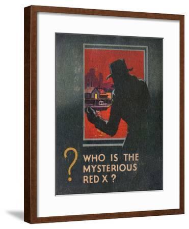 G-Man Vs the Red X Book Back Cover--Framed Giclee Print