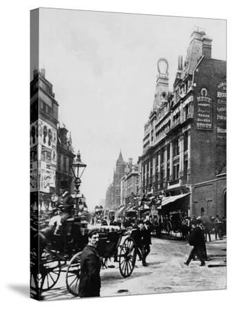 Tottenham Court Road C. 1895--Stretched Canvas Print