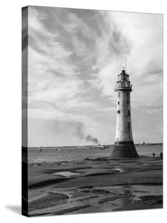 New Brighton Lighthouse--Stretched Canvas Print