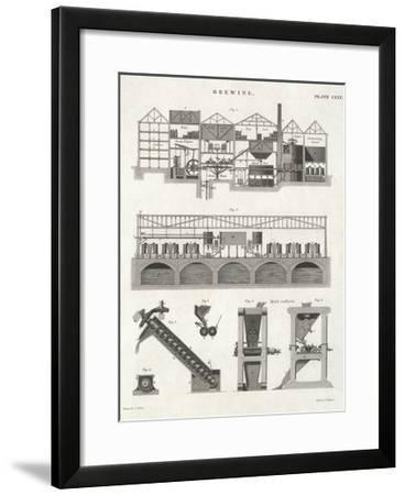 Cross-Section of Brewery--Framed Giclee Print