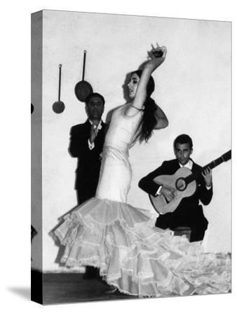 Flamenco Dancer--Stretched Canvas Print