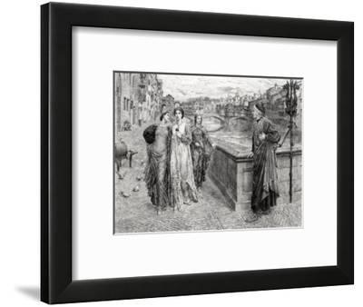 Dante and Beatrice--Framed Giclee Print