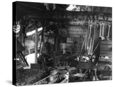 Blacksmith's Interior--Stretched Canvas Print