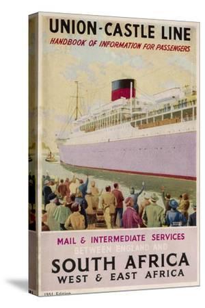 Union Castle Brochure--Stretched Canvas Print