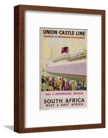 Union Castle Brochure--Framed Giclee Print