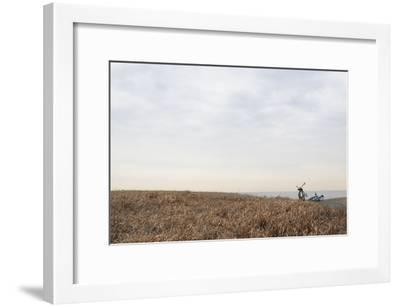 Bicycle that Was Left on the Beach Side-Hiroshi Watanabe-Framed Premium Photographic Print